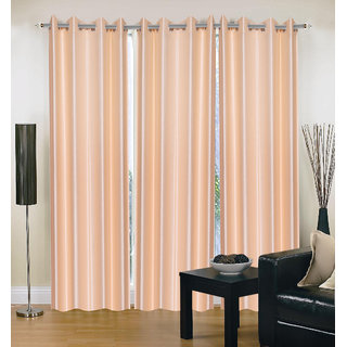 Akash Ganga Polyester Multicolor Eyelet Door Curtains (Set of 3) (7 Feet) CUR3-ST-109-7