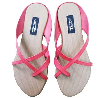 Shoe Mart Women Flats-Grey and Pink Colour