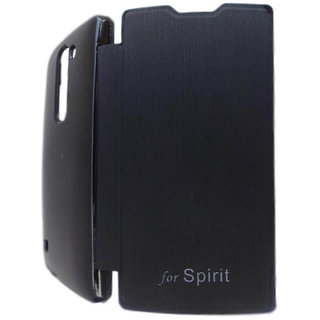 Flip Case Cover For LG Spirit H422 (Black)