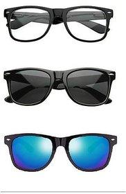 Fashnopedia Multicolour UV Protection Wayfarer Men Sunglasses (Combo)