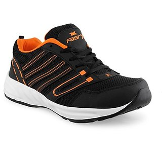 FASTX Black  Orange Running Shoes