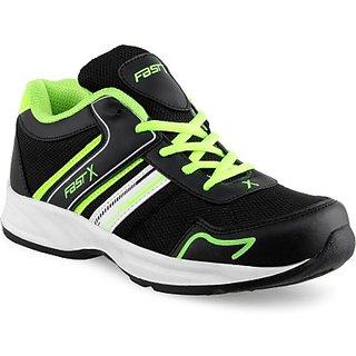 FASTX Black  Green Running Shoes