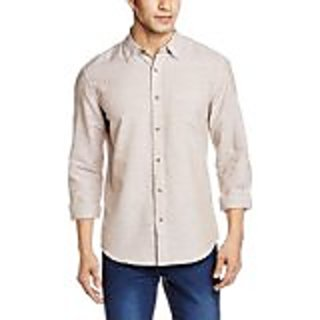 Mens Casual Linen Blend Shirt in Slim Fit