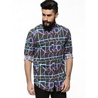 KOOVS Neon Circuit Print Shirt