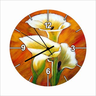 Digital Printed Glass Wall Clock by DigiArts Decor