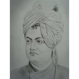swami vivekanand drawing