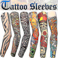 1 Pair Tattoo Skin Cover Sleeves Wearable Arm For Style / Biking Sun Protection