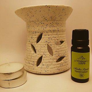 Earthenware Tea-Light Diffuser - White