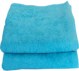 Lushomes Cotton Turq Hand Towel Set (Pack of 2)