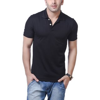 b1171d9fac752 Buy American Crew Mens Polo T Shirt Black Colour Online   ₹500 from ...
