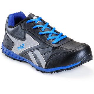 Micato Men's Silver & Black Sports Shoes