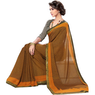 Jiya Multicolor Georgette Printed Saree With Blouse