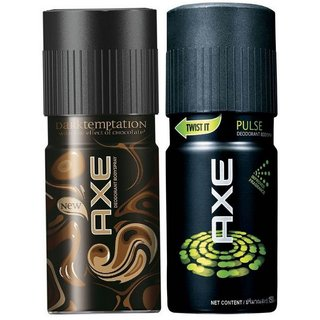 AXE Deodorant Pulse and Dark Temptation (Combo Set of 2 Pcs)-150ml Each