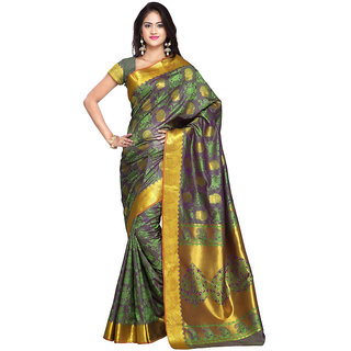 Lovely Look Grey  Purple Printed Saree LLKPRSJB9101SGV