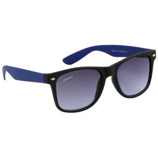 eb3bbab1247 Amaze Unisex Black Plastic Lens Full Blue and Black Plastic Frame 100 UV  Protection Medium-55 Wayfarer Sunglasses