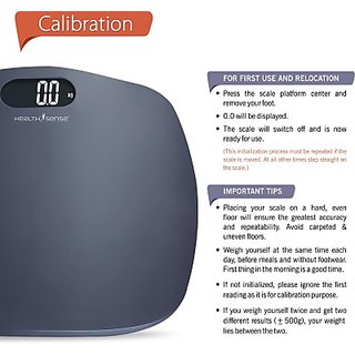 BALAJIHEALTHCARE  Healthsense Ultra-Lite Personal  grey colour Weighing Scale