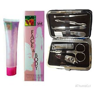 Combo of Dead Skin Remover Gel + 7 in 1 Manicure Kit