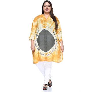 PlusS Yellow Cotton Solid Tunic