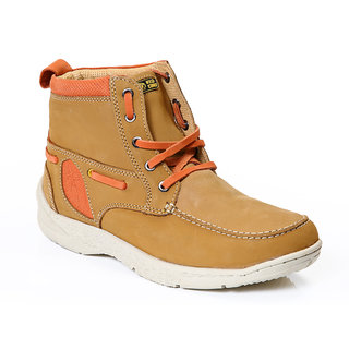 Red Chief Mens Beige Lace-Up Casual Shoes