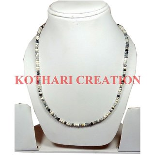AAA+ NATURAL DENDRITE OPAL 3-4MM RONDELLE FACETED BEADS 26 LONG BEADED NECKLACE
