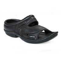 Red Chief MenS Black Casual Slip On Sandals (RC0248 Black)