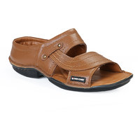 Red Chief MenS Tan Casual Slip On Sandals (RC0248 TAN)