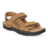 Red Chief MenS Tan Casual Velcro Sandals (RC0570 RUST)