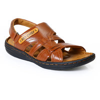 Red Chief MenS Tan Casual Velcro Sandals (RC1083 G.TAN)