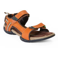 Red Chief MenS Tan Casual Velcro Sandals (RC213 TAN)
