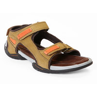 Red Chief MenS Tan Casual Velcro Sandals (RC219 CAMEL)