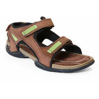 Red Chief MenS Brown Casual Velcro Sandals (RC219 D.BRN)