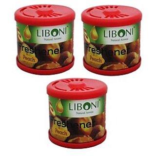Liboni Car Air Freshener/Perfume Set Of 3-Rose