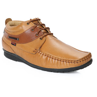 Red Chief Tan Men Mocassion Casual Leather Shoes (RC1199 006)