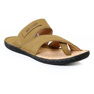 Red Chief Camal Brown Men Casual Leather Slipper (RC394 004)