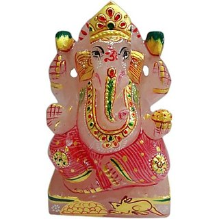 Shree Sai Art Stone Religious Idol Painted Ganesh