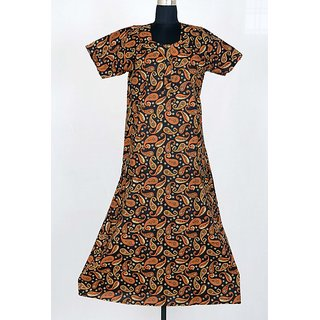 Latest Flower Printed Night Gown