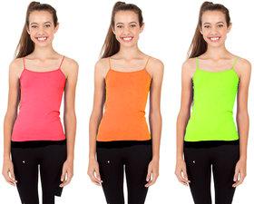 Aashish Fabric Combo - 3 Kids Neon Camisole