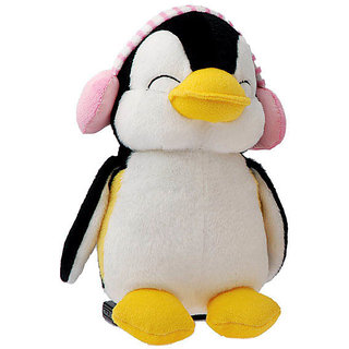 Shiva Industries PENGUIN WITH EAR MUFFS 20CM