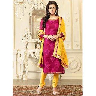 Ladies Stylish Cotton Suit Pink Colour