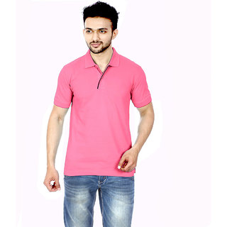 Gumality Mens Pink Polo T - Shirt