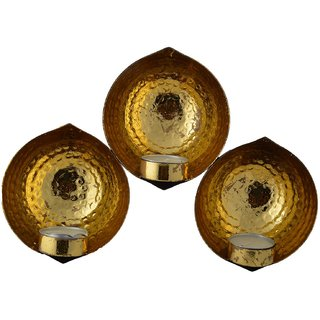 MAAYAA TLH-142 (3 BRASS CANDAL HOLDER)