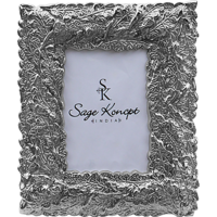 Sage Koncpt New Leaf Photo Frame 4x6 ( Silver Plated )