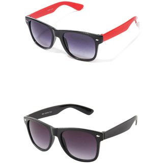 Closer Black Wayfarer Sunglasses For Men  Women-Combo-In344-348