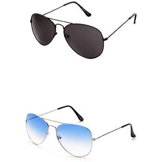 Closer Blue Aviator Sunglasses For Men  Women-Combo-Xz207-210A