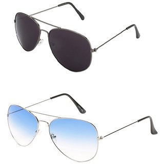 Closer Blue Aviator Sunglasses For Men  Women-Combo-Xz210-257A