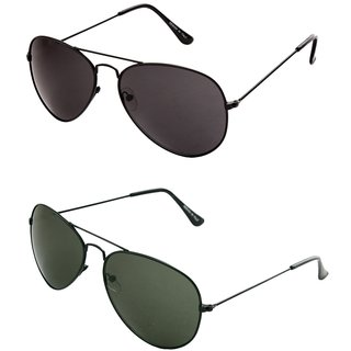 Closer Green Aviator Sunglasses For Men  Women-Combo-Xz210-290A