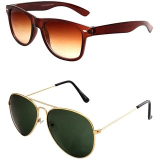 Closer Brown Wayfarer Sunglasses For Men  Women-Combo-Xz217-286A