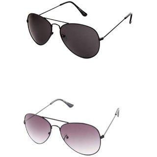 Closer Gray Aviator Sunglasses For Men  Women-Combo-Xz240-247A