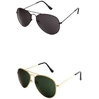 Closer Green Aviator Sunglasses For Men  Women-Combo-Xz260-217A