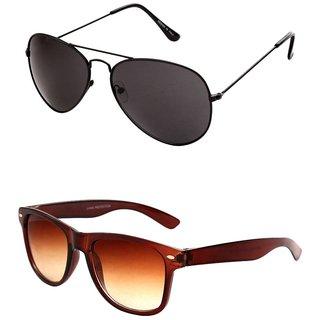 Closer Brown Wayfarer Sunglasses For Men  Women-Combo-Xz260-286A